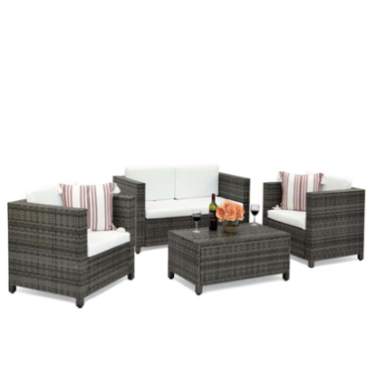 TERRACE AMELIA 4PC WICKER SOFA SET